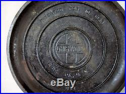 RARE HTF- Vintage Cast Iron GRISWOLD No 9 Flat Bottom KETTLE Self Basting Lid
