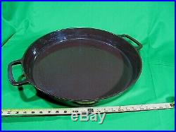 RARE LARGE GRISWOLD #20 Hotel Cast Iron Skillet WithHeat Ring Enamel