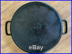 RARE LARGE GRISWOLD #20 Hotel Cast Iron Skillet WithHeat Ring No Cracks