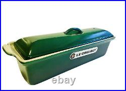 RARE Le Creuset 1.5 QT Pate Terrine #32, Classic Sonoma Green Enameled Cast Iron