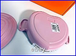 RARE Le Creuset Cast Iron Heart Buffet Dutch Oven 18cm 1QT -Chiffon Pink