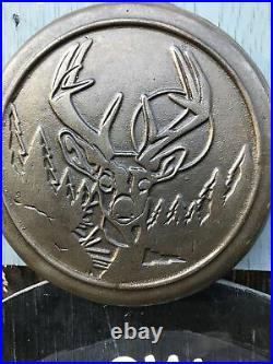 RARE Lodge Wildlife Series Cast Iron #8 Skillet BUCK DEER Heat Ring NO RESERVE