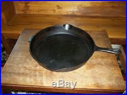 RARE NO. 13 Griswold Cast Iron Skillet Iron Frying Pan Heat Ring SLANT LOGO 720
