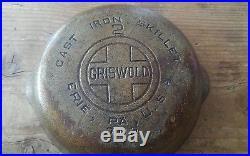 RARE Vintage Griswold No 2 Large Block Logo ERIE, PA. USA 703 FOR RESTORATION