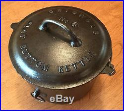 RARE Vintage Griswold No 6 Flat Bottom Kettle with Lid PN 809 and 867