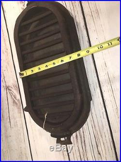 RARE Vintage Sportsman Compact Cast Iron Shallow Fish Fryer & Griddle, 19 1/2