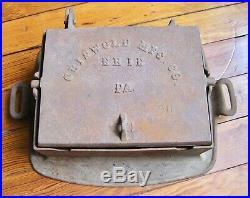 Rare #00 Rectangular Cast Iron Griswold Waffle Iron