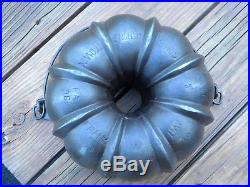 Rare 1891 Frank Hay Griswold Made Cast Iron Bundt Pan From Johnstown Pa