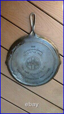 Rare 1932 GRISWOLD ROUND BREAKFAST SKILLET P/N 665 Cast Iron Cookware Frying Pan