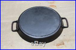 Rare 1950's Lodge 20 SK S Two Handle Skillet Heat Ring Reconditioned Double