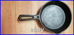 Rare #4 WAPAK INDIAN HEAD HOLLOW WARE CAST IRON SKILLET (EXCELLENT CONDITION)