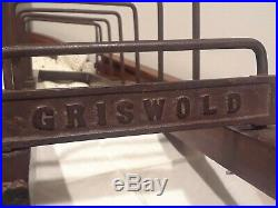 Rare Authentic Griswold 7 Slots Skillet Display Wood Rack (1064) PATENT APLD