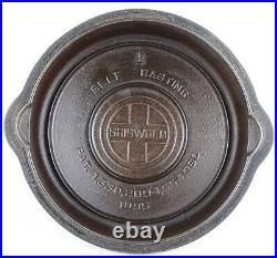Rare Block Logo Griswold No 3, No 4, No 5 High Dome Cast Iron Skillet Cover Set