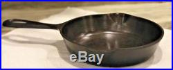 Rare Cast Iron GRISWOLD NO. 2 SKILLET Large Block Logo 703 with HEAT RING