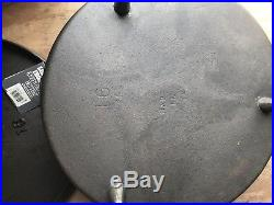 Rare Collectible Lodge 16 inch Cast Iron Camp Dutch Oven Discontinued