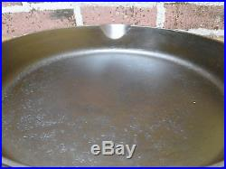 Rare EARLY (BEFORE PART #'s) Wagner Ware Sidney O No. 14 A Cast Iron Skillet #14