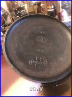 Rare Early Griswold Cast Iron Dutch Oven #12with Lid Erie Holy Grail W Insert