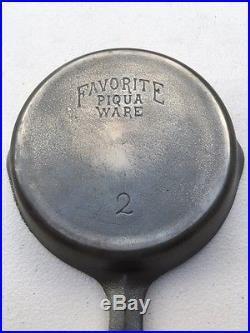 Rare Favorite Piqua #2 Cast Iron Skillet