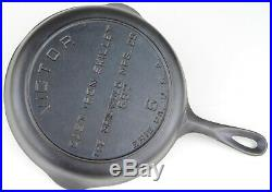 Rare Fully Marked VICTOR (Griswold) No 6 (697) Cast Iron Skillet Restored Cond
