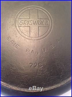 Rare Griswold #13 Slant Cast Iron Skillet
