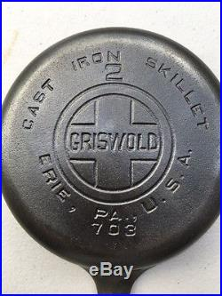 Rare Griswold #2 Cast Iron Skillet NICE