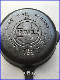 Rare Griswold #2 Cast Iron Skillet Pan NICE