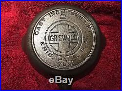 Rare Griswold #2 Cast Iron Skillet, Pan with Heat Ring