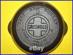 Rare Griswold #2 Cast Iron Skillet, Pan with Heat Ring, VERY NICE