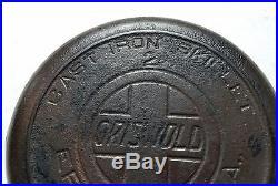 Rare Griswold #2 Cast Iron Skillet Slant Logo Heat Ring 703 Erie PA USA Flat Vtg