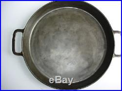 Rare Griswold #20 Cast Iron Two Handle Hotel Skillet-728- Large Logo- Heat Ring