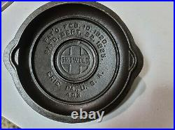 Rare Griswold #3 low dome fully marked lid #463 green enamel original condition