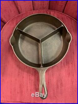 Rare Griswold ALL-IN-ONE DINNER SKILLET #8 Cleaned & Seasoned Sits Flat P/N1008