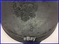 Rare Griswold Cast Iron Erie Spider Logo #8 Skillet With Heat Ring (look)