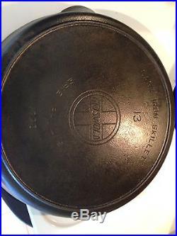 Rare Griswold Erie #13 Slant logo Cast Iron Skillet 720 circa 1909- 1929