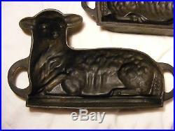 Rare Griswold Leg Froward Lamb mold, cast iron