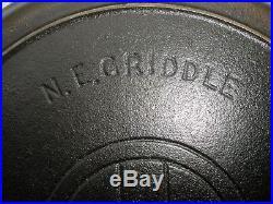 Rare Griswold N. E. Griddle Slant 9