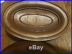 Rare HTF Griswold Cast Iron No. 15 Oval Skillet Cover / Lid #1013 C