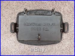 Rare Large Griswold Cast Iron #0 Rectangular Hotel Waffle Iron