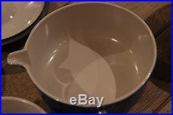 Rare New Le Creuset Cast iron Pan set x 3 Blue with Lids Real Vintage