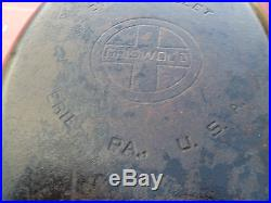 Rare Old Griswold Cast Iron #15 Oval Fish Skillet