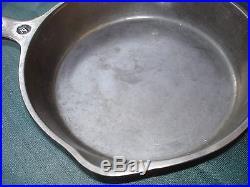 Rare Original Wapak Indian Head Logo Number # 4 Cast Iron Pan Skillet