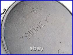 Rare Sidney Hollowware No 6 Cast Iron Flat Bottom Kettle Ex Restored Cond