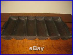 Rare Unmarked Griswold 959 Cast Iron 6 Slot Small Bread Loaf Pan