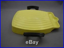 Rare Vintage 1958 LE CREUSET RAYMOND LOEWY TOSTADOR GRILL PAN Elysees Yellow