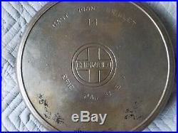 Rare Vintage Cast Iron Skillet No. 14 Griswold Large Logo 16 Erie 718 Heat Ring
