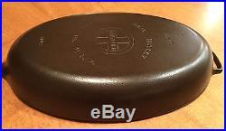 Rare Vintage Griswold #15 Cast Iron Skillet PN. 1013 Large Fish Skillet