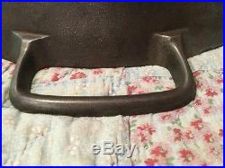 Rare Vintage Griswold #20 Hotel Cast Iron Skillet With Heat Ring PN. 728