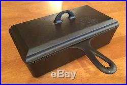 Rare Vintage Griswold Cast Iron Loaf Pan With Lid Pn 877 and 859