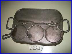 Rare Vtg. Flip Restraurant Pancake Griddle Cast Iron/Unmarked Griswold/Wagner