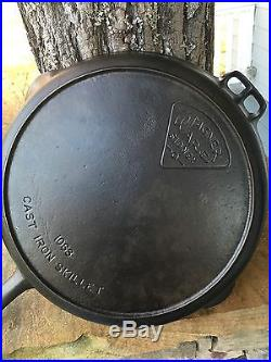 Rare Wagner Ware Sidney O Pie Logo #13 Cast Iron Skillet Pn#1063 Nice